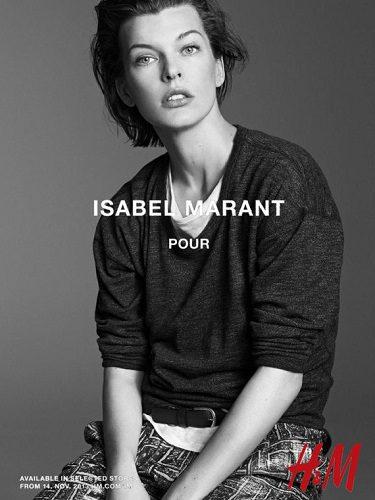 Mila Jovovich fue uno de los rostro de la colaboración entre Isabel Marant y H&M en 2014