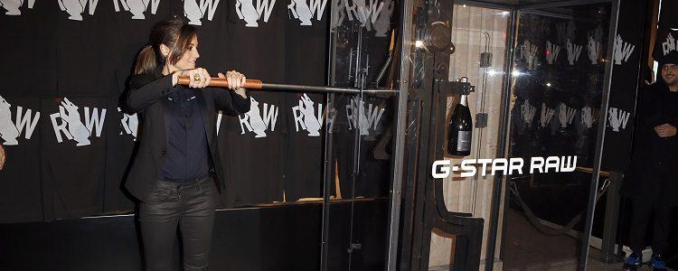 Leonor Watling enla inauguración de la tienda G-Star RAw de Madrid
