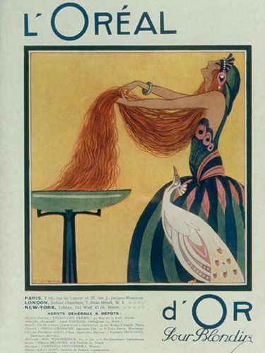 Anuncio de la marca L'Oréal en sus inicios