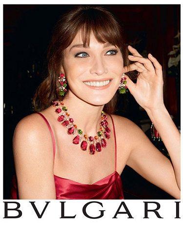 Carla Bruni imagen de la campaña Bvlgari Diva