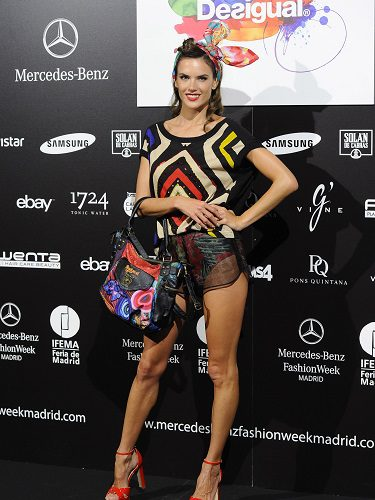 Alssandra Ambrosio en la Fashion Week de Madrid, 2015