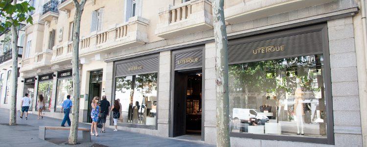 Fachada de una de las tiendas Uterqüe en Madrid
