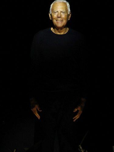 El diseñador Giorgio Armani