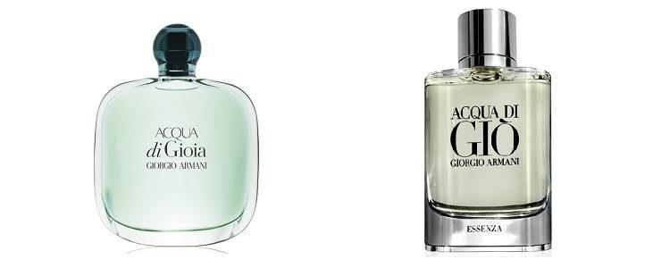 Perfumes Acqua di Gioia y Acqua de Giò
