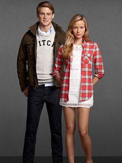 Modelos de la marca Abercrombie & Fitch