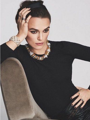 Keira Nigthley imagen de la colección de joyas 2016