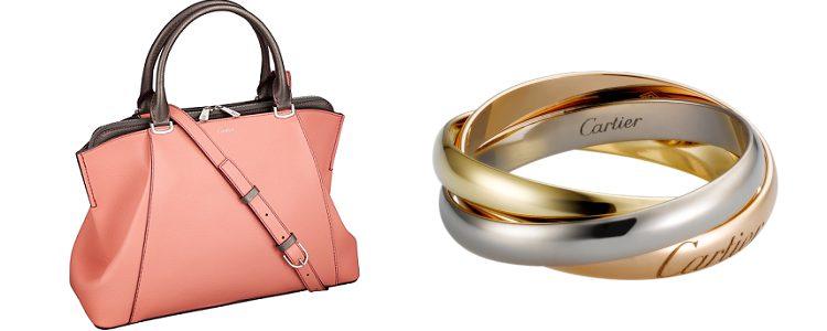 Bolso C de Cartier y el clásico anillo triniti