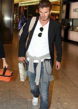 David Beckham con unas Converse