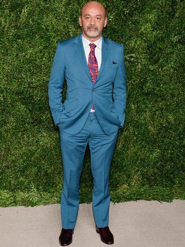 El diseñador Christian Louboutin en los CFDA Vogue Fashion Found, 2015