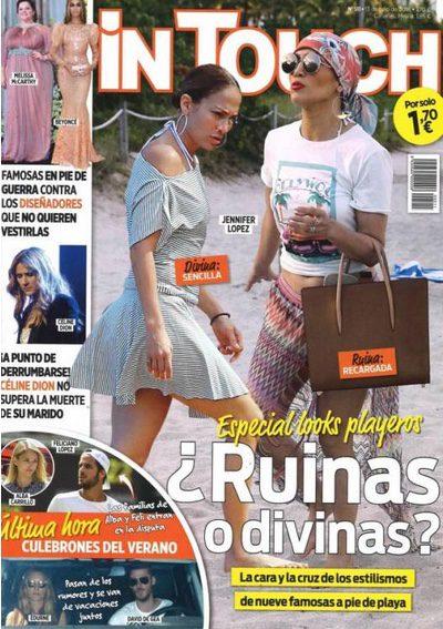 Jennifer Lopez y sus looks playeros para el verano en la portada de In Touch