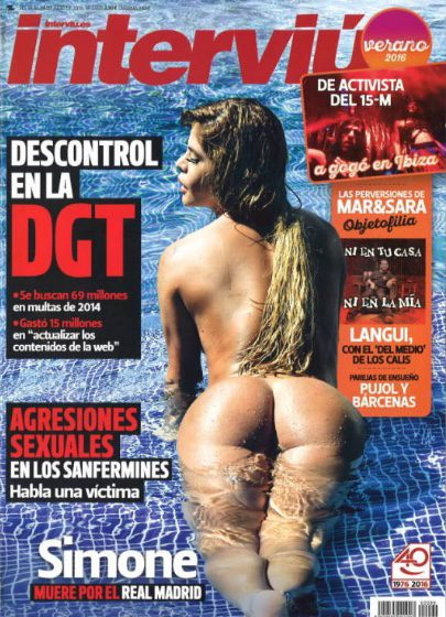 Simone Villar Se Desnuda En La Portada De Interviú Revista