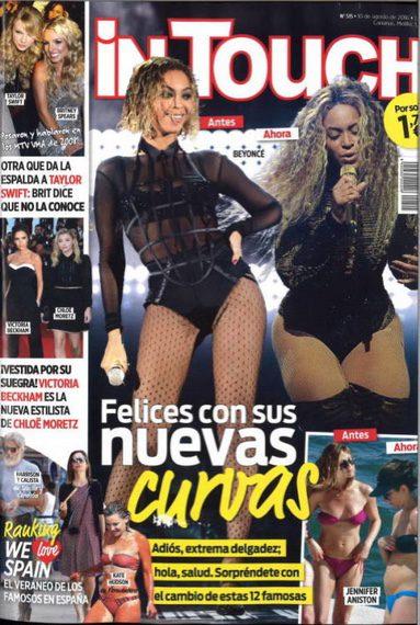 En al revista InTouch algunas famosas están felices con sus nuevas curvas