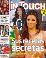 Eva Longoria en la portada de la revista In Touch contando sus trucos para mantener su espectacular físico
