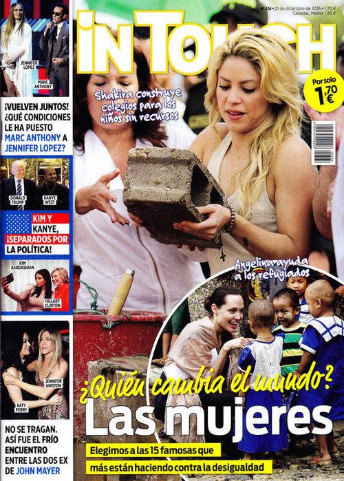 Shakira protagonista de la portada de In Touch por su gran labor en las obras sociales