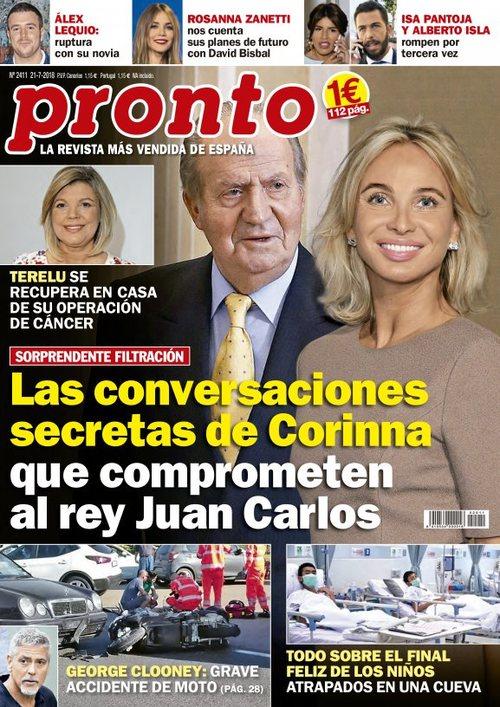 Las conversaciones secretas de Corinna sobre el Rey Juan Carlos en revista Pronto