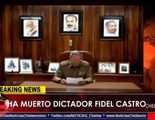 Mensaje televisado con el que Raúl Castro ha anunciado la muerte de Fidel Castro